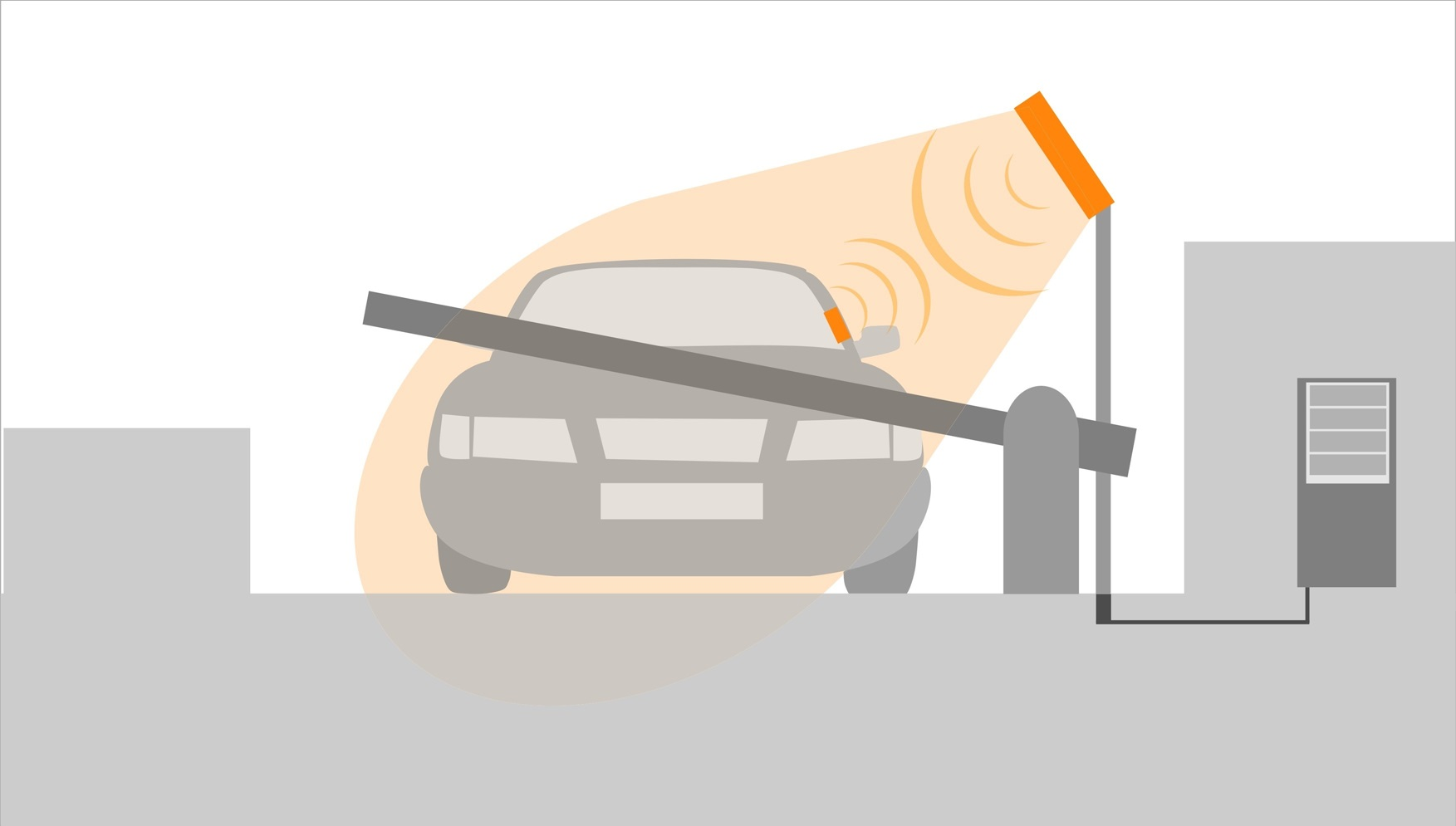 Illustration if RFID using for car identification